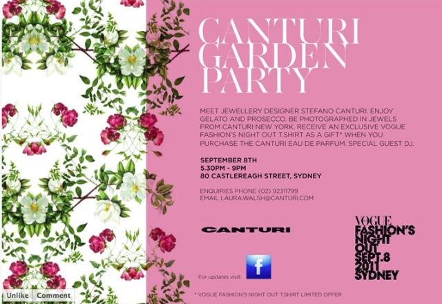 Canturi Party Invite