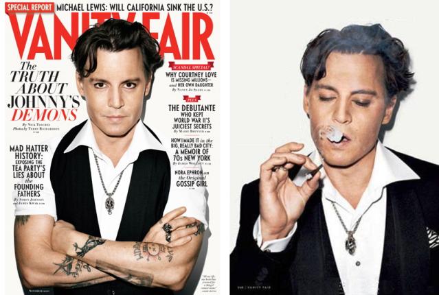 vanity fair cover - johnny depp