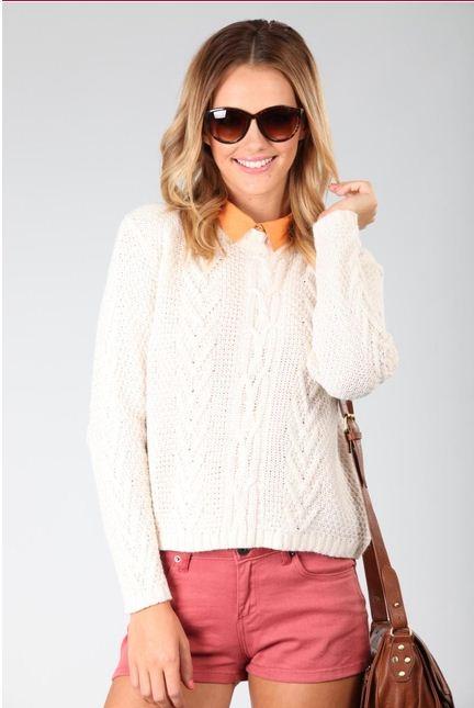Bari Cable Knit - Cream