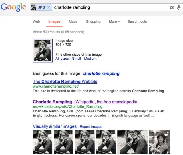 Charlottle Rampling copy